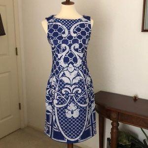 Engineered Print Scuba Dress